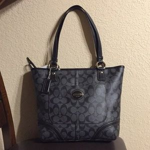 Coach (F18917) Peyton Signature C black/gray tote